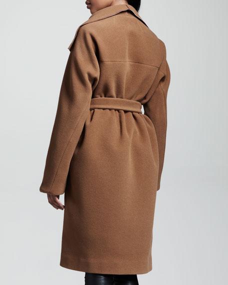 Brushed Twill Coat