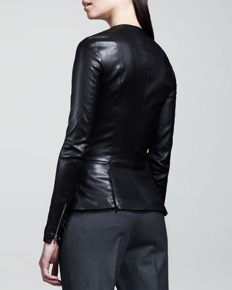 Stretch-Leather Jacket