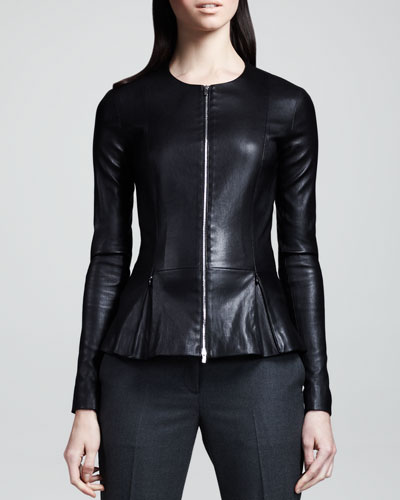 THE ROW Stretch-Leather Jacket
