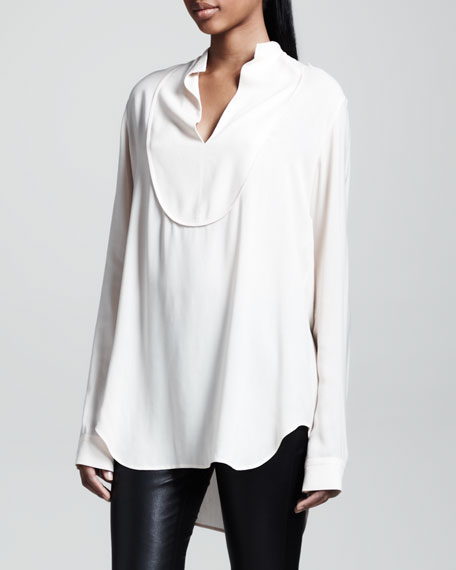 Oversized Twill Blouse