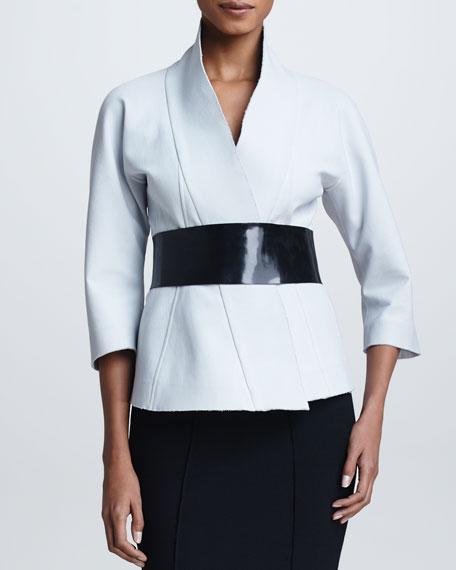 Belted Kimono Jacket, Ash