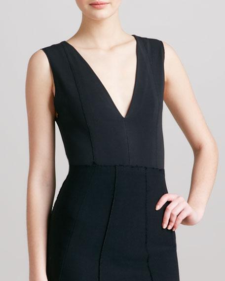 Sleeveless Stretch Bodysuit, Black