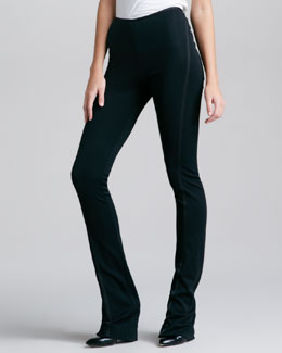 Donna Karan Fluid Crepe Body Pants, Black