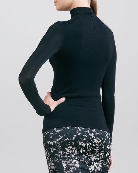 Long-Sleeve Turtleneck, Black
