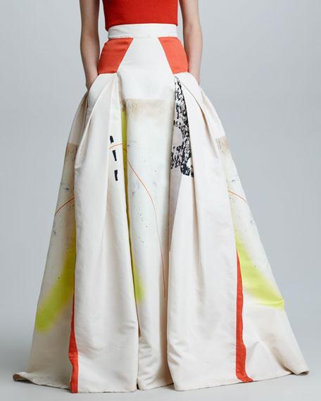 Modern Art Print Ball Skirt