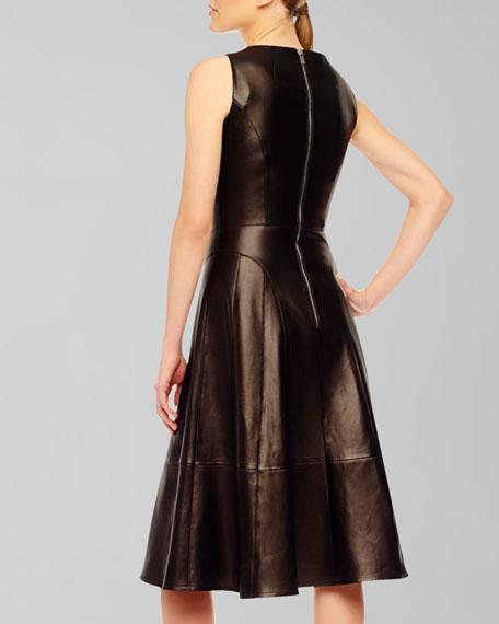 A-Line Leather Dress