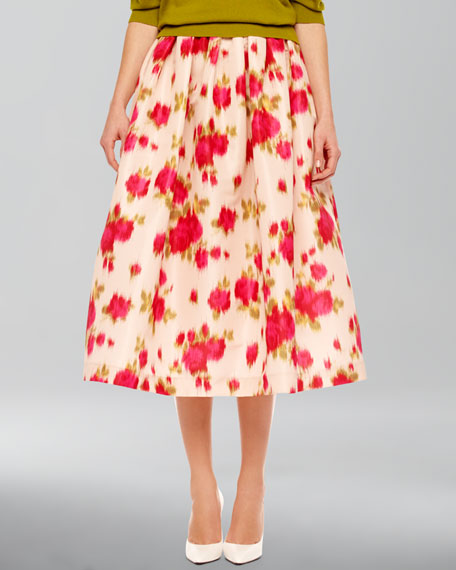 Full Floral-Print Skirt