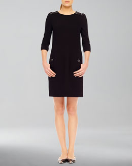 Michael Kors  Stretch Boucle Button Dress