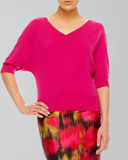 Michael Kors  V-Neck Cashmere Top