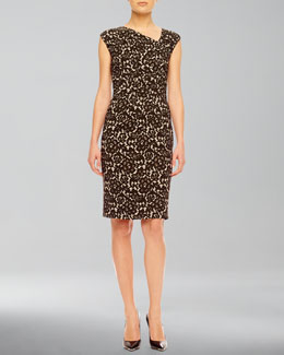 Michael Kors  Floral-Print Ponte Dress