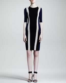 Belstaff Carlin Racing-Stripe Merino Dress