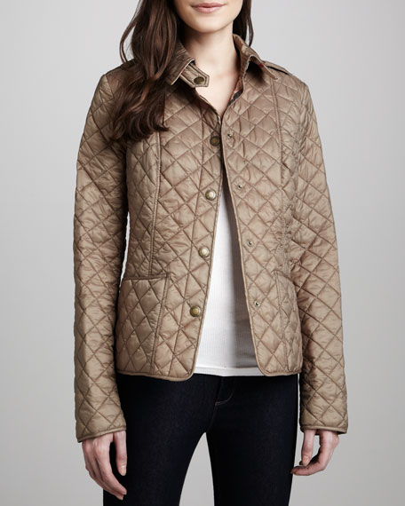 Kencott Quilted Snap-Front Cropped Jacket