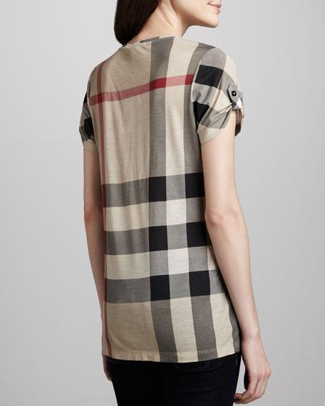 Short-Sleeve Check T-Shirt, Classic