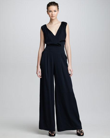 Wide-Leg Jumpsuit, Black