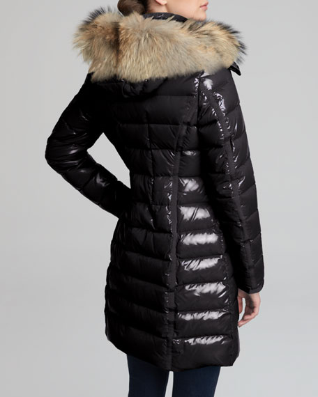 9c0c7208eebc2 Moncler Fur-Hooded Long Puffer Coat, Black