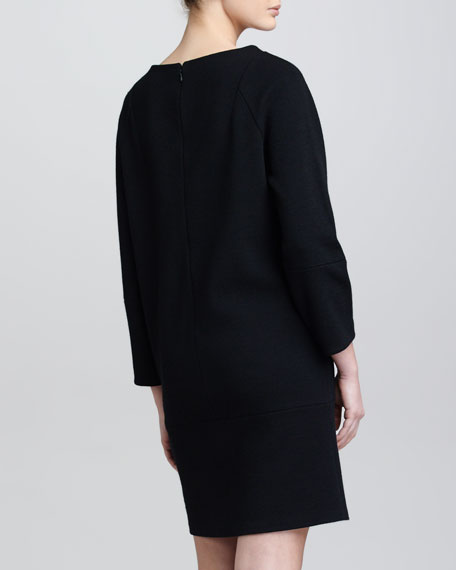 Crepe Jersey Cocoon Dress, Black