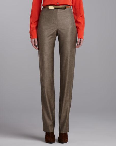 Diana Shimmer Pants, Dark Camel