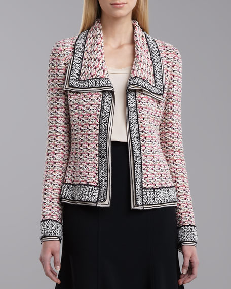 Elizabeth Tweed Jacket, Shocking Pink
