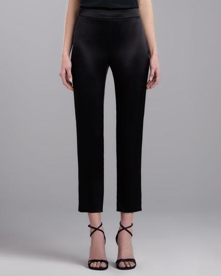 Side Zip Emma Pants, Caviar
