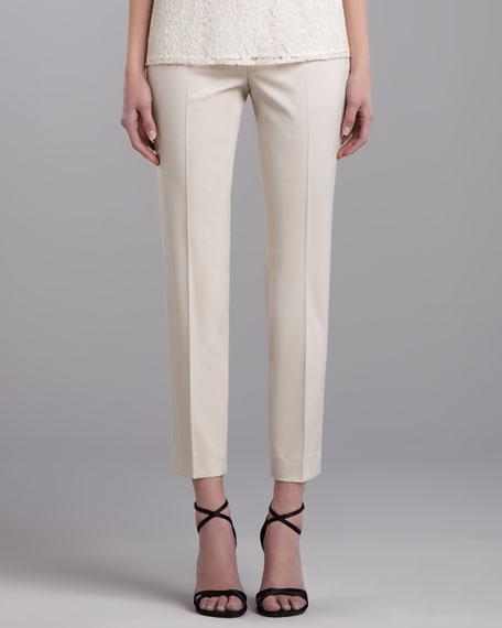 Emma Venetian Wool Pants, Porcelain