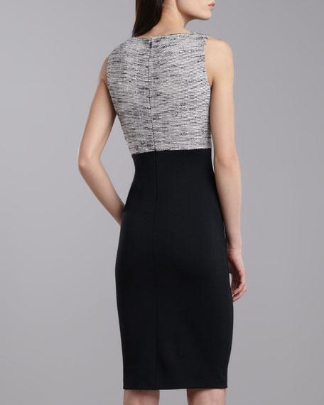 Fleet Bateau-Neck Sleeveless Dress, Caviar/Multi