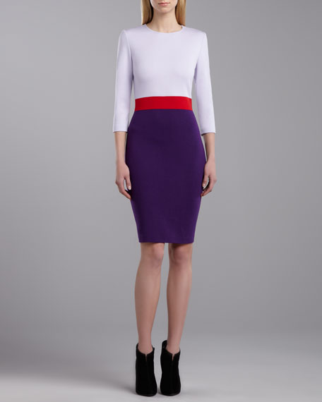 Milano Colorblock Dress, Lilac/Red/Violet