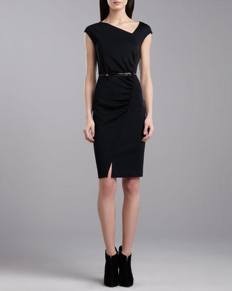 Milano Asymmetric Dress, Caviar