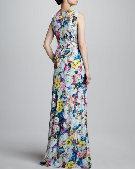 Erdem Long Floral-Print Dress