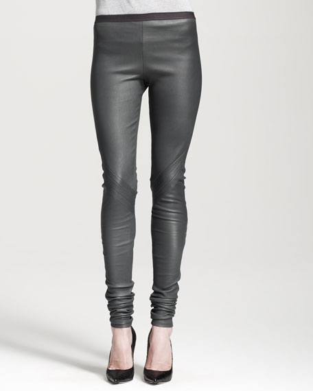 Leather Biker Leggings