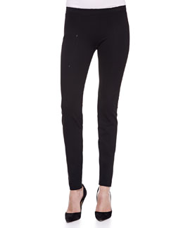 Donna Karan Seamed Leggings, Black