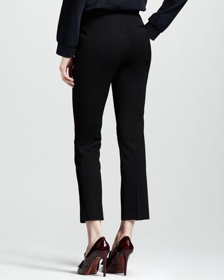 Stretch-Gabardine Ankle Pants