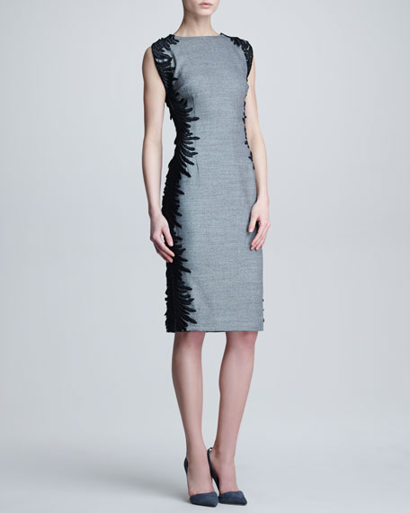 Flutter-Lace Sheath Dress