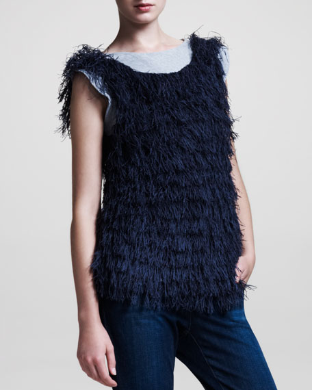 Fringed Sleeveless Top
