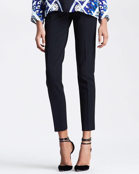 Straight-Leg Ankle Pants