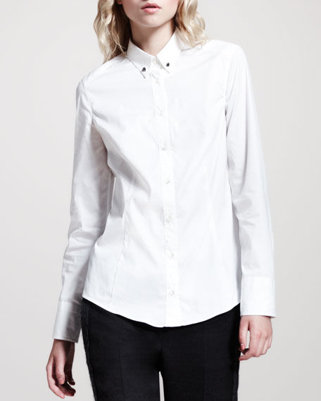 Double Monili-Collar Blouse