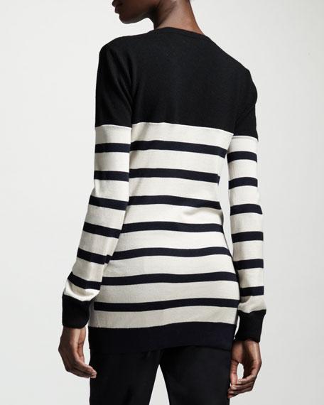 Block-Stripe Knit Top