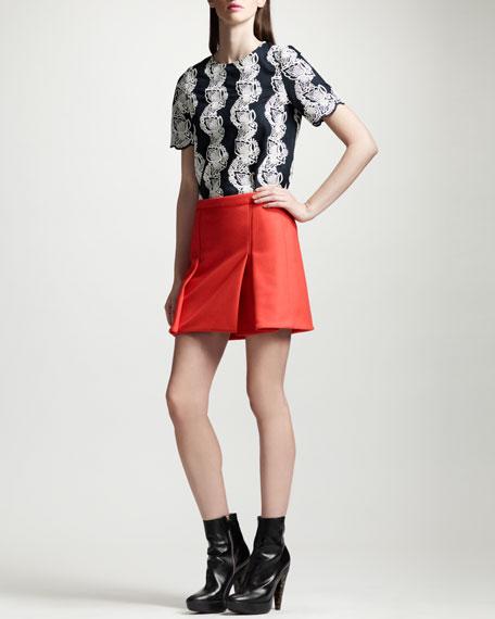 Box-Pleat Miniskirt