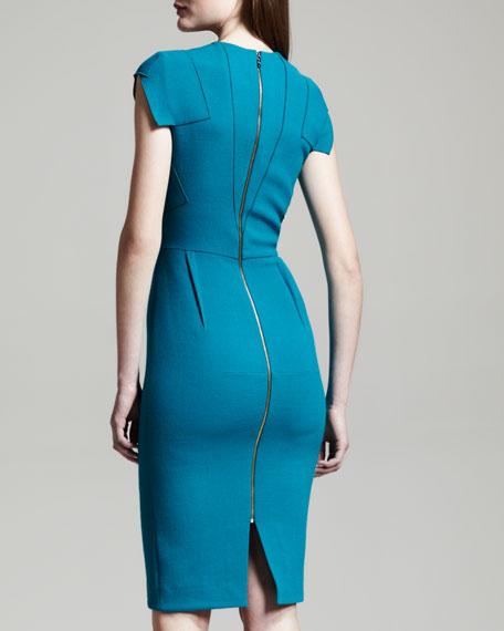 Breccia Fold-Detail Dress