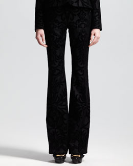 Alexander McQueen Flocked Flannel Trousers