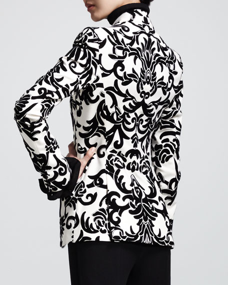 Printed One-Button Jacket