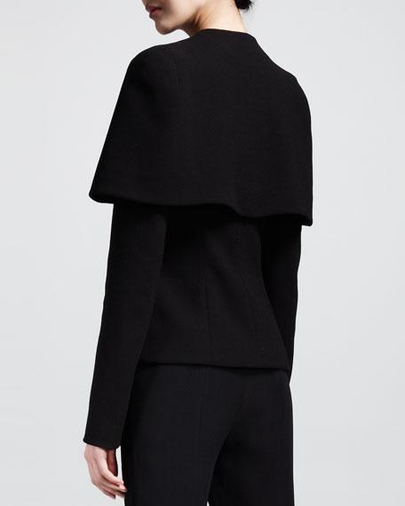Crepe Capelet Jacket