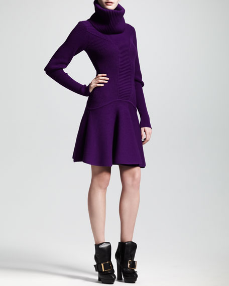 Ribbed Knit Snood Dress