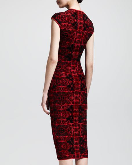 Stained Glass Knit Sheath Dress