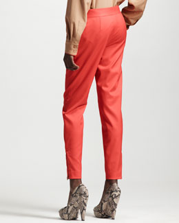 Stella McCartney Tapered Pants, Vermillion