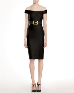 GUCCI Stretch Cady Shift Dress