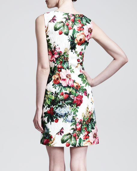 Sleeveless Floral-Print Shift Dress