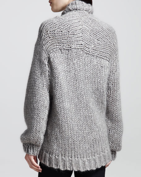 Chunky Shawl-Collar Cardigan