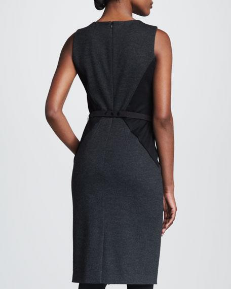 Ponte Knit Colorblock Dress