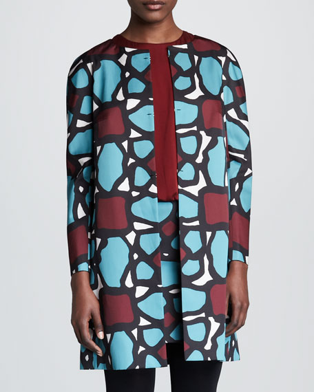 Abstract-Print Coat