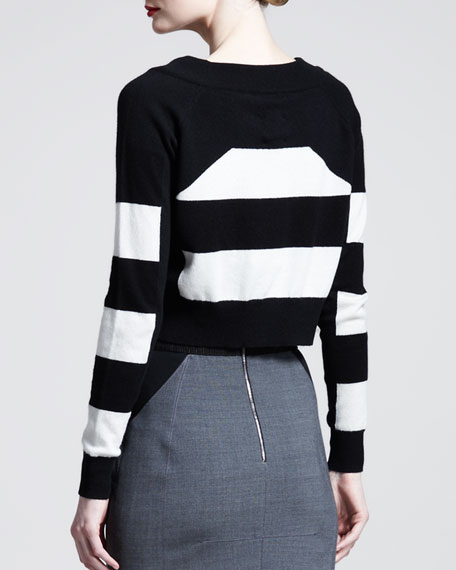 Block-Stripe Long-Sleeve Top